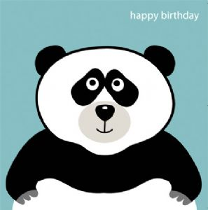 Animal Magic Birthday Card - Panda